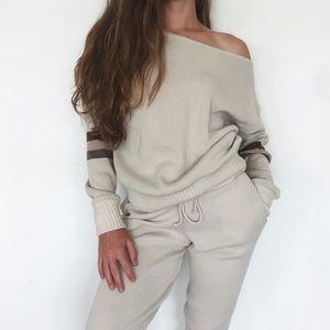 [Nasy Gal] sweater + jogger lounge set
